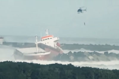 Container Ship Snaps In Half