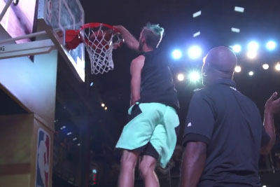 A Wild Dunk Show Leaves NBA Legends In Awe