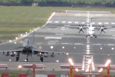 Amazing Typhoon Fighterjet Performs A Spectacular Powerful Takeoff