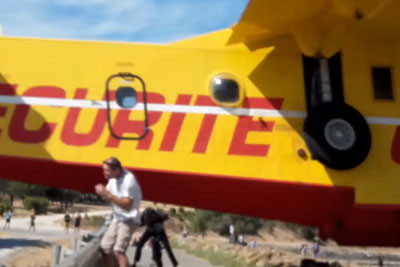 Pilot Of Canadair Plane Shocks Everyone With Low-Flight