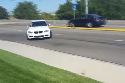 Kid Almost Wrecks BMW M3 In Idaho Trying To Drift