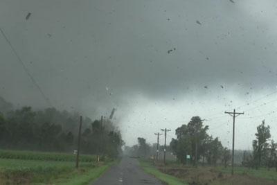 Raw Video Of Violent Tornado Slamming Through Cecil, Ohio