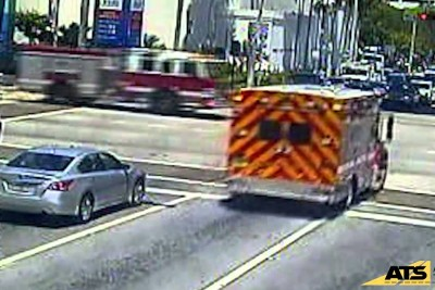Ambulance Crashes With A Fire Truck In Miami Intersection
