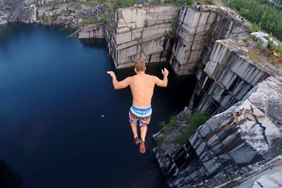110 Feet High Cliff Jumping Is Insane