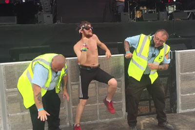 When The Festival Security Also Likes To Dance At The Rave