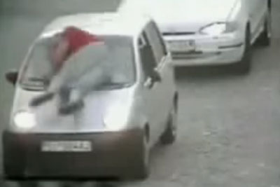 Man Gets Ran Over After He Throws Himself On The Windshield