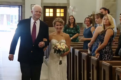 Bride Walks Down Aisle With Man Saved by Her Father's Heart Donation