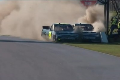 Driver Tackles His Competitor After Absolutely Bananas NASCAR Truck Race