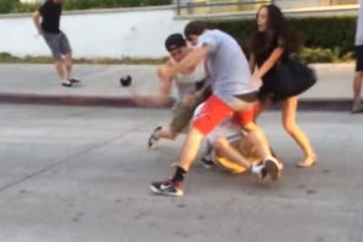 Tough Drunk Guy Punches Random Dude In Newport Beach, Then Gets What He Deserves