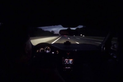 When Tire Explodes At 207 Mph While Driving On German Autobahn