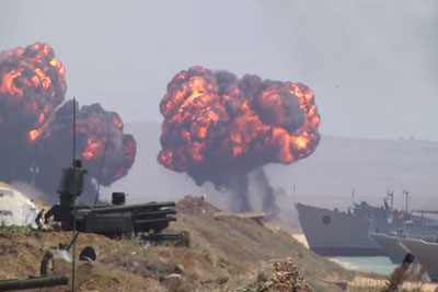 Military Exercises By Nato And Russia On Crimea