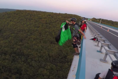 Instructor Saves A Life Of Base Jumper In Last Second