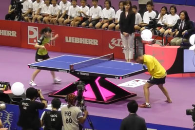 Most Amazing Armless Table Tennis Performance By Ibrahim Hamato