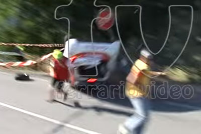 Crashed Peugeot 208 Almost Hits Spectators