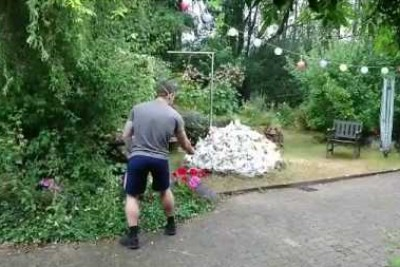 Unexpected Explosion Totally Mess This Guy's Garden