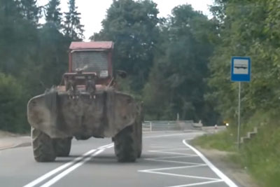 Have You Ever Seen So Drunk Tractor Driver?