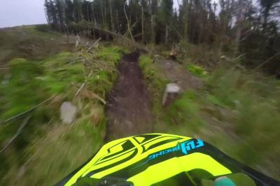 Crazy Downhill POV Run On Red Bull Hard-Line