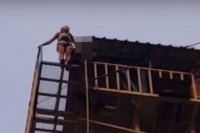 Bungee Jump Staff Forget To Tie Rope To Safety Hook