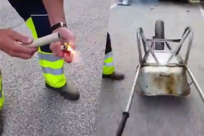 This Happens If You Place A Powerful Fireworks Under The Wheelbarrow