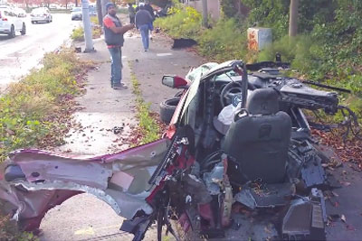 When You Will See The Shocking Aftermath Of Mustang Crash, You Will Drive Slower