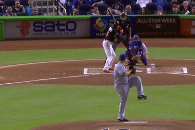 As A Tribute To Jose Fernandez, Teammate Dee Gordon Takes A Pitch From The Other Side Of The Plate
