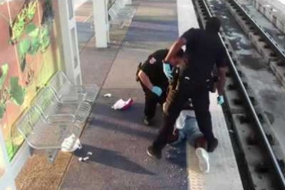 Man Waiting On Train In Houston Violently Beaten By Black Cop