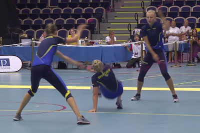 Swedish Girls Rope Skipping Team Performs A Flippin' Sweet Routine At This Year's Championship