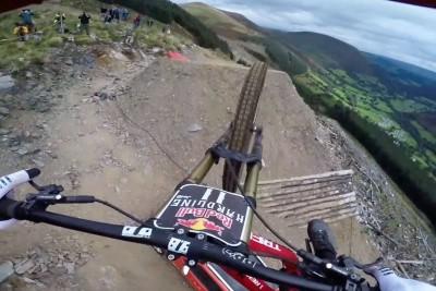 Dan Atherton Sends It Down The Hardline MTB Track