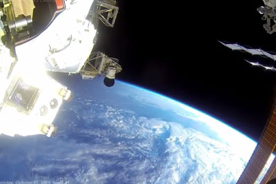 Watch A Live Video From Space Facing To The Earth