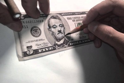 Artist Transforms Abraham Lincoln On 5 Dollar Banknote To Bill Murray