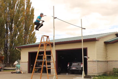 World Record In Highest Jump On A Pogo Stick Was Just Set By This Guy