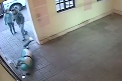 Man Gets Knocked Out By A Good Samaritan After Beating Up A Woman