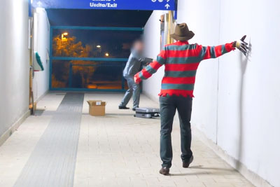 Freddy Krueger Scares Italians In This Nightmare Scare Prank