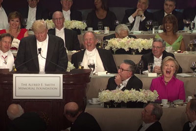 Donald Trump And Hillary Clinton Roast Each Other At Charity Dinner