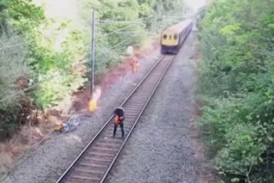 Drunk Man Gets His Life Saved By Railway Worker In Last Second
