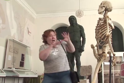 Is This Funniest Prank? Skeleton Scares Women With Unexpected Move