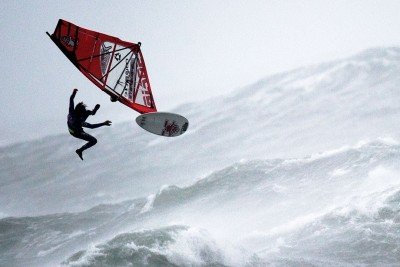 This Is How Windsurfing In Extreme Hurricane Conditions Looks Like