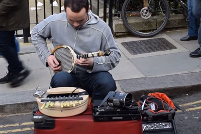 Is This The Most Creative Street Musician In London?