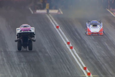 Drag Race Car Starts Flying At 250+ Mph, But It Doesn't Crash