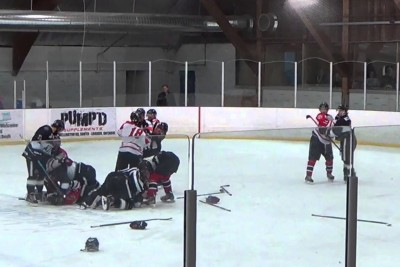 Hockey Referee Punches Player, Then Trainer Punches Referee As A Revenge