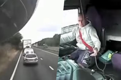 Reason Why You Shouldn't Use Phone While Driving: Polish Lorry Driver Killed Mum And Three Kids