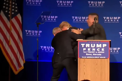Donald Trump Rushed Offstage By Secret Service Agents At Reno