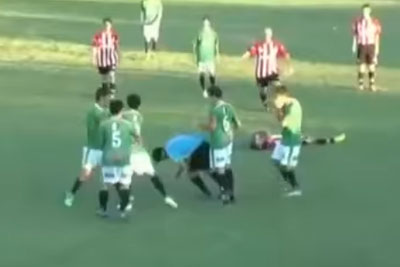 Mexican Players Kills Referee With One Punch After Red Carton