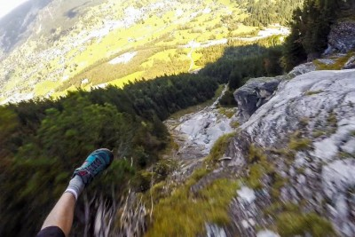 Speed Flying Through The Alps Seems Like A Thrilling Way To Lose A Leg