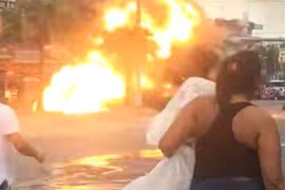 Gas Truck Explosion In Rio De Janeiro Captured On Camera