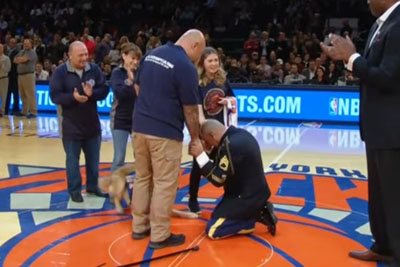 Sergeant Gets Unexpected Surprise At Knicks Game