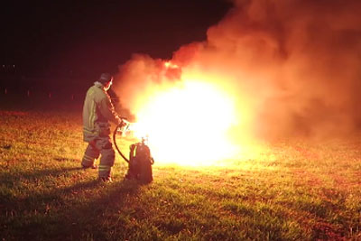 This Is What Happens When You Light 3,000 Bottle Rockets At The Same Time With A Flamethrower