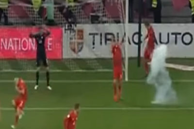 Robert Lewandowski Was Floored After A Flare Explosion