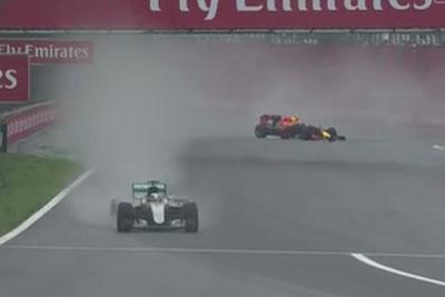 Max Verstappen Drifts Around A Corner With Formula 1 Literally Sideways