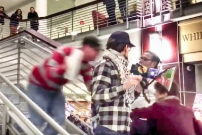 Anti-Trump Protester Tackled While Delivering Speech In The Ohio Union
